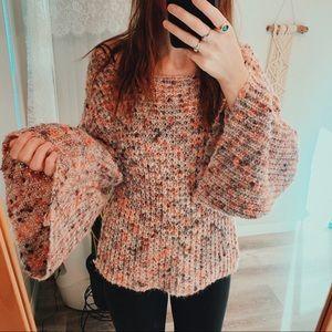 Knit Sweater Big Sleeves Yarn Boho Indie Slouchy